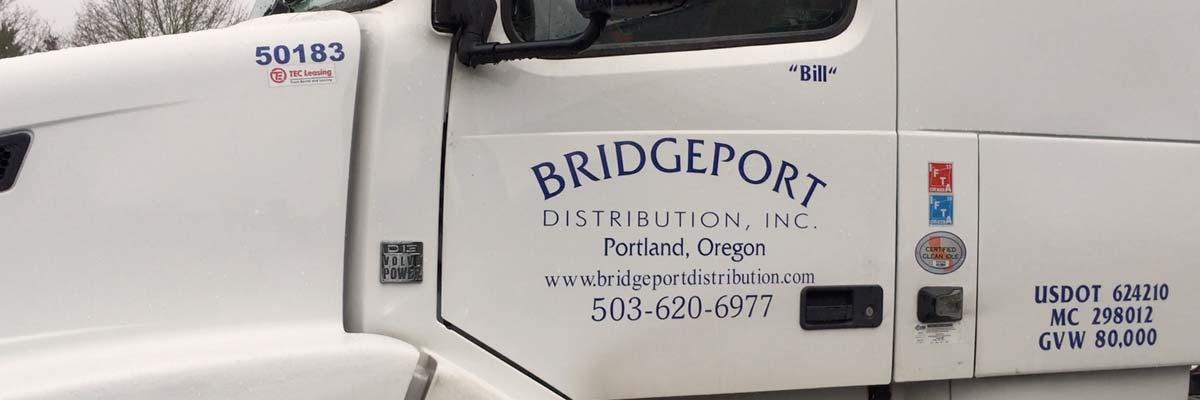 Bridgeport truck door and logo