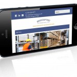 Bridgeport Distribution homepage on iPhone